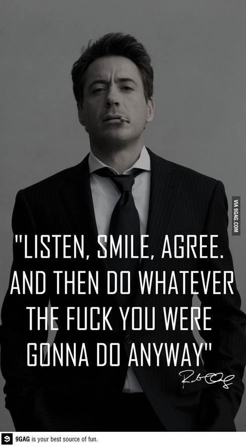 Listen-smile-agree
